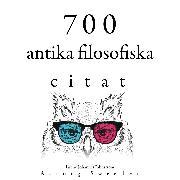 Cover-Bild zu 700 citat från forntida filosofi (Audio Download) von Aurelius, Marcus