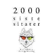 Cover-Bild zu 2000 siste sitater (Audio Download) von Austen, Jane