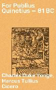 Cover-Bild zu For Publius Quinctius - 81 BC (eBook) von Yonge, Charles Duke