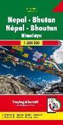 Cover-Bild zu Nepal - Bhutan, Autokarte 1:800.000. 1:800'000