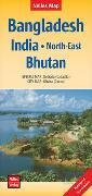 Cover-Bild zu Nelles Map Landkarte Bangladesh; India: North-East; Bhutan. 1:1'500'000