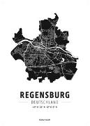 Cover-Bild zu Regensburg, Designposter, Hochglanz-Fotopapier. 1:35'000