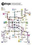 Cover-Bild zu Metropa - Das europäische Superschnellbahnnetz, Poster, Plano in Rolle. 1:10'000'000