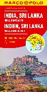 Cover-Bild zu India, Sri Lanka, Nepal, Bangladesh Marco Polo Map. 1:2'500'000