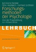 Cover-Bild zu Forschungsmethoden der Psychologie (eBook) von Renner, Karl-Heinz