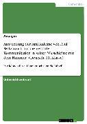 """Cover-Bild zu Anwendung der fünf Axiome von Paul Watzlawick auf die gestörte Kommunikation in seiner """"Geschichte mit dem Hammer"""" (Deutsch, 11. Klasse) (eBook)"""