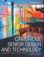 Cover-Bild zu Adamthwaite, Kerry: Cambridge Senior Design and Technology