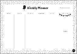 Cover-Bild zu Weekly Planner Dots DIN A4