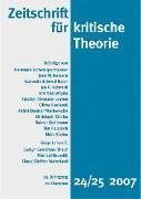 Cover-Bild zu Zeitschrift für kritische Theorie / Zeitschrift für kritische Theorie, Heft 24/25 (eBook) von Bock, Wolfgang (Hrsg.)