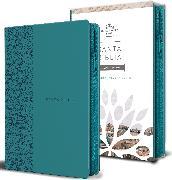 Cover-Bild zu Biblia Reina Valera 1960 letra grande. Símil piel aguamarina, cremallera, tamaño manual/Spanish Bible RVR 1960. Handy Size, Large Print, Leathersoft Aqua