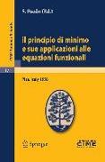 Cover-Bild zu Il principio di minimo e sue applicazioni alle equazioni funzionali