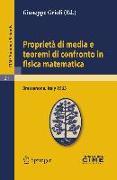 Cover-Bild zu Proprietà di media e teoremi di confronto in fisica matematica