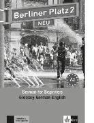 Cover-Bild zu Berliner Platz 2 NEU - Glossar Deutsch-Englisch