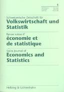 Cover-Bild zu 2003/1: Schweizerische Zeitschrift für Volkswirtschaft und Statistik