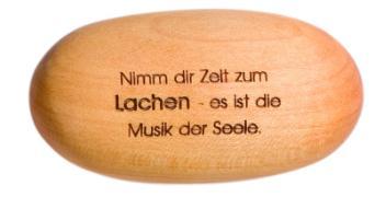 Cover-Bild zu Holzstein 'Nimm dir Zeit zum Lachen - es ist die Musik der Seele'