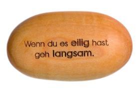 Cover-Bild zu Holzstein 'Wenn du es eilig hast, geh langsam'