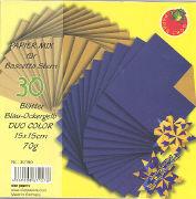 Cover-Bild zu Papier Mix für Bascetta Stern. Blau-Ockergelb Duo Color 15x15cm