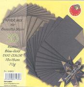 Cover-Bild zu Papier Mix für Bascetta Stern Blau-Gold Duo Color 15x15cm