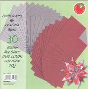 Cover-Bild zu Papier Mix für Bascetta Stern Rot-Silber Duo Color