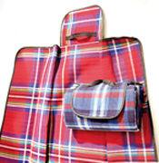 Cover-Bild zu Picknickdecke mit karierter Liegefläche