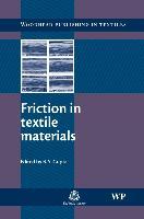 Cover-Bild zu Friction in Textile Materials von Gupta, B S (North Carolina State University, USA) (Hrsg.)