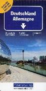 Cover-Bild zu Hallwag Kümmerly+Frey AG (Hrsg.): Deutschland Nord + Süd Strassenkarte. 1:500'000
