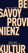 Cover-Bild zu Die Provenienz der Kultur von Savoy, Bénédicte