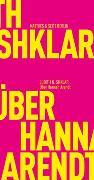 Cover-Bild zu Über Hannah Arendt von Shklar, Judith N.