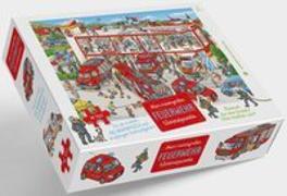 Cover-Bild zu Feuerwehr Puzzle von Walther, Max (Illustr.)