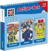 Cover-Bild zu WAS IST WAS Junior 3-CD-Action-Box Feuerwehr/ Polizei/ Flughafen von Wilhelmi, Friederike