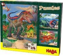 Cover-Bild zu Puzzles Dinosaurier von Walther, Max (Illustr.)