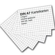 Cover-Bild zu Karteikarten 500 Stück A7 weiß kariert