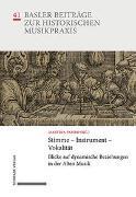 Cover-Bild zu Papiro, Martina (Hrsg.): Stimme - Instrument - Vokalität