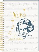 Cover-Bild zu Ringbuch DIN A4 - All about music - Notes Edition Beethoven von Sander, Gesa (Illustr.)