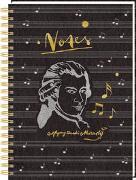 Cover-Bild zu Ringbuch DIN A4 - Notes - Edition Mozart von Ebbert, Leonie (Gestaltet)