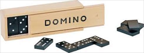 Cover-Bild zu Dominospiel im Holzkasten / 2 Ex.