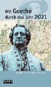 Cover-Bild zu Mit Goethe durch das Jahr 2021