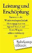 Cover-Bild zu Leistung und Erschöpfung (eBook) von Wagner, Greta (Hrsg.)