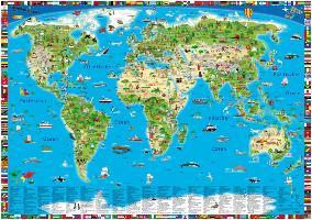 Cover-Bild zu Kinderweltkarte von Schönhoff, Doris