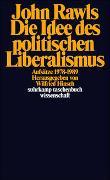Cover-Bild zu Rawls, John: Die Idee des politischen Liberalismus