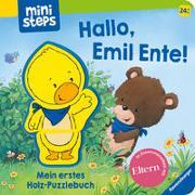 Cover-Bild zu Orso, Kathrin Lena: Hallo, Emil Ente! Mein erstes Holzpuzzle-Buch