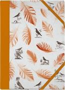 Cover-Bild zu Schöll, Stephan (Gestaltet): Pasta für Nachtigallen Sammelmappe - Motiv Orange Federn