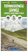 Cover-Bild zu Hallwag Kümmerly+Frey AG (Hrsg.): Fernwanderwege Schweiz 1:301 000. 1:301'000