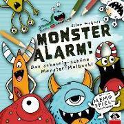 Cover-Bild zu Weßner, Silke: Monster-Alarm! Das schaurig-schöne Monster-Malbuch für Kinder ab 3 Jahre