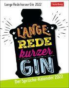 Cover-Bild zu Harenberg (Hrsg.): Lange Rede kurzer Gin Kalender 2022