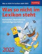 Cover-Bild zu Heimannsberg, Joachim: Was so nicht im Lexikon steht Kalender 2022