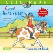 """Cover-Bild zu LESEMAUS 206: """"Conni lernt reiten"""" + """"Conni macht Musik"""" Conni Doppelband von Schneider, Liane"""