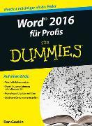 Cover-Bild zu Word 2016 für Profis für Dummies von Gookin, Dan