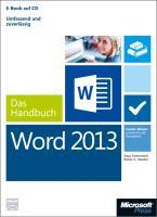 Cover-Bild zu Microsoft Word 2013 - Das Handbuch von Fahnenstich, Klaus