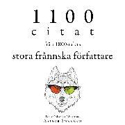 Cover-Bild zu 1100 citat från de stora franska författarna på 1800-talet (Audio Download) von Flaubert, Gustave
